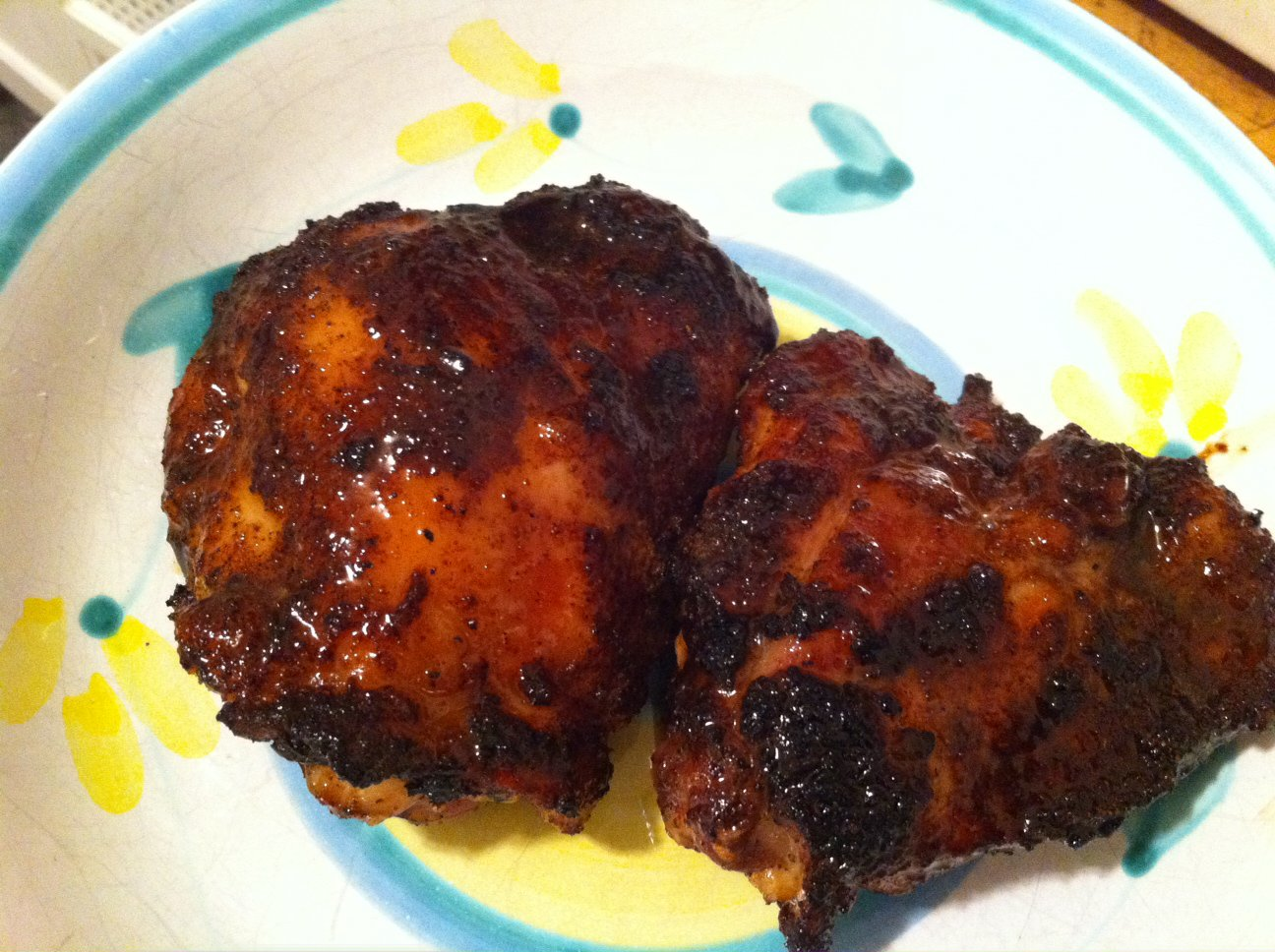 Chipotle Grilled Chicken Thighs With Spicy Tomatillo Sauce ...