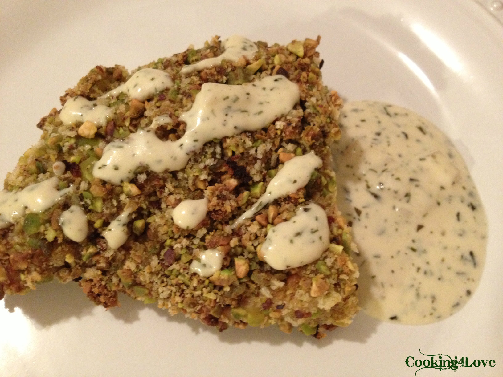 Pistachio-Crusted Chicken with Herbs (and Mustard Cream Sauce ...