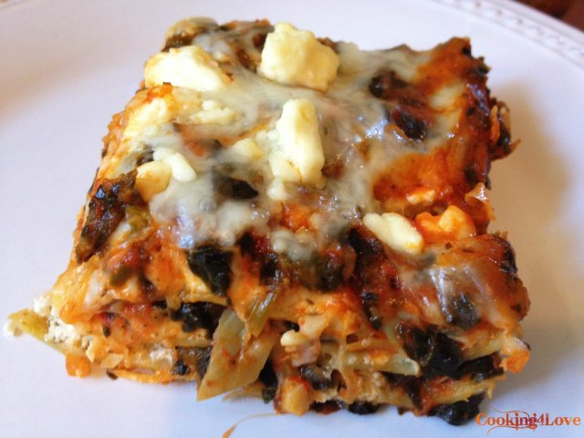 Artichoke, Mushroom & Spinach Lasagna