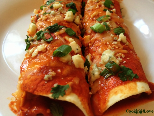 Buffalo Chix Enchiladas Serving