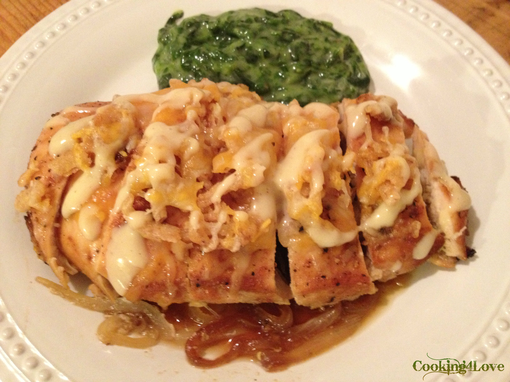 ... -Style Chicken and Caramelized Onions with Spinach | Cooking For Love