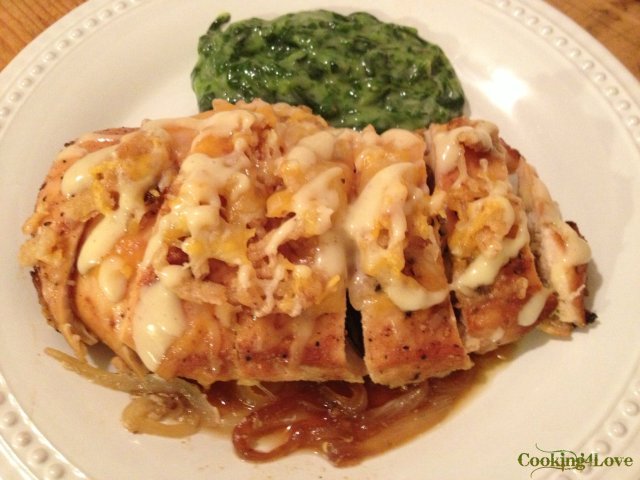 Pub-Style Chicken with Caramelized Onions