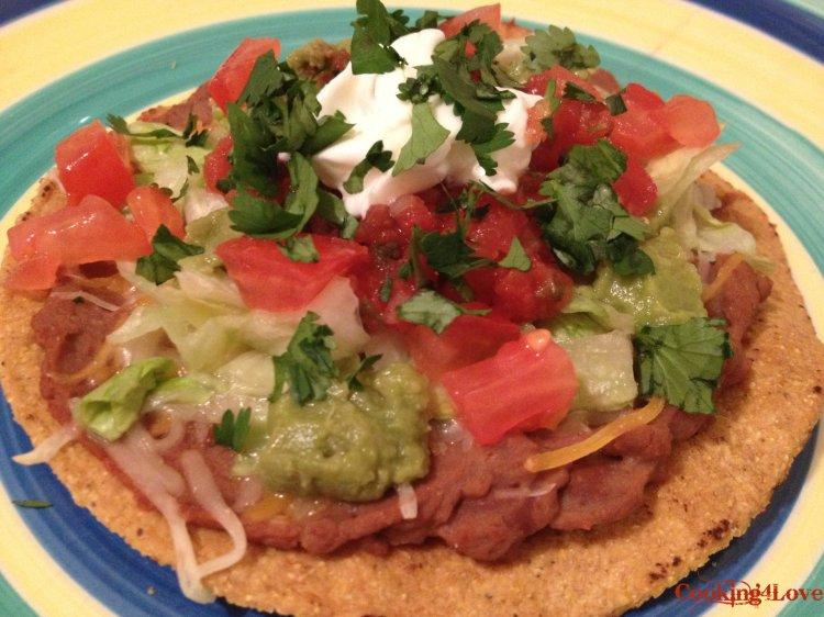 Delicious Mexican Tostada