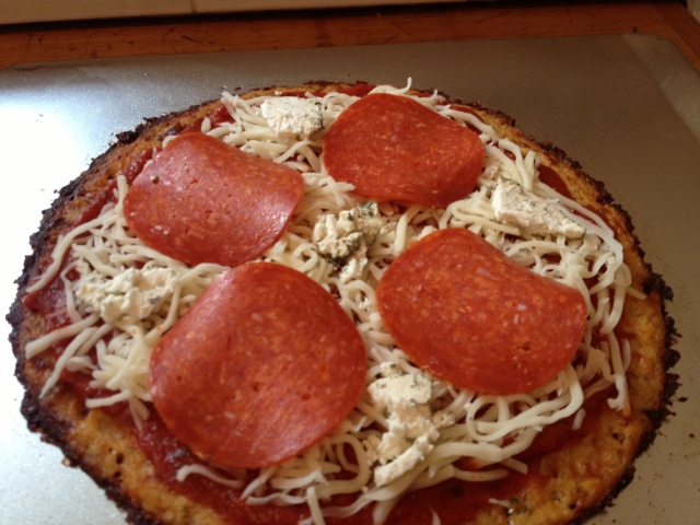 Sauce, Cheese and Toppings Added