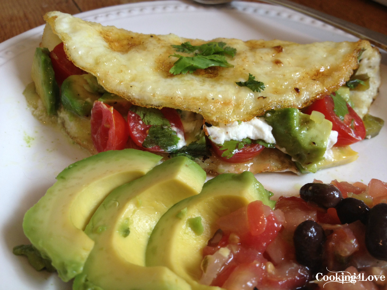 Mexican Egg White Omelet With Goat Cheese | Cooking For Love