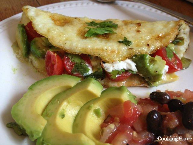 Mexican Egg White Omelet