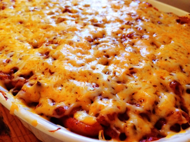 Creamy Chili Mac & Cheese Casserole