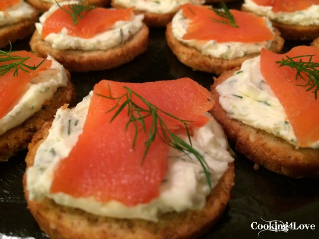 Smoked Salmon Crostini | Cooking For Love