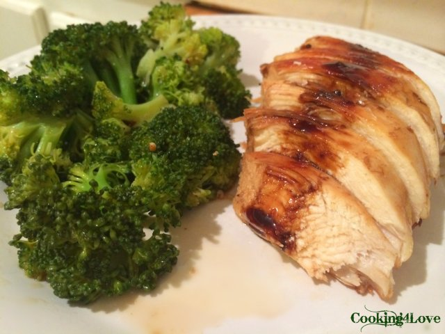5 Ingredient Chicken and Sweet & Spicy Broccoli